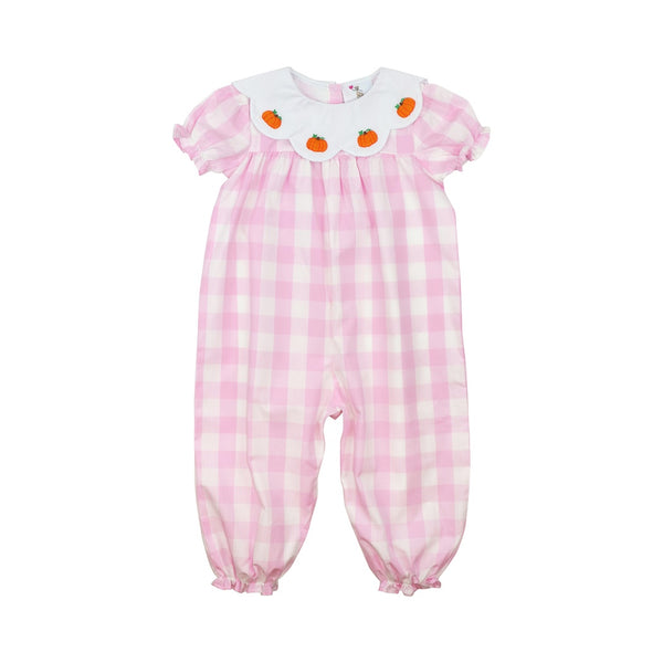 Pink Buffalo Check Pumpkin Long Bubble