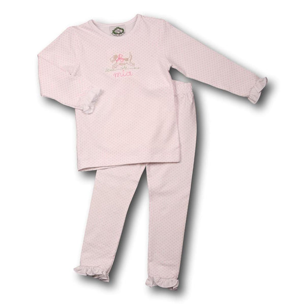 Pink Dot Knit PJ Set