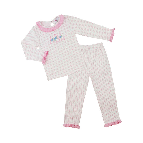 Pink Dot Knit Pajamas