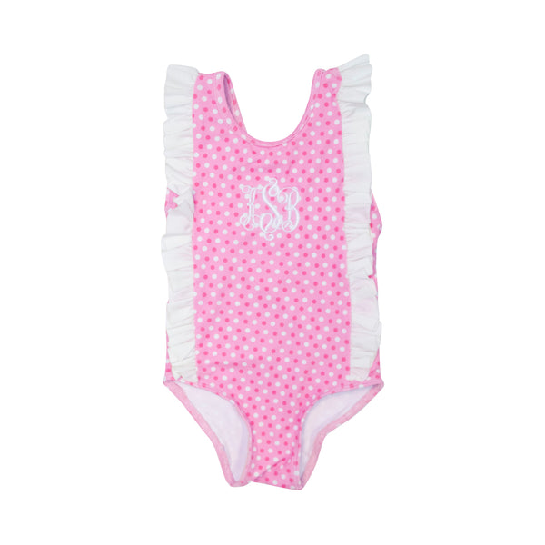 Pink Dot Ruffle Swimsuit