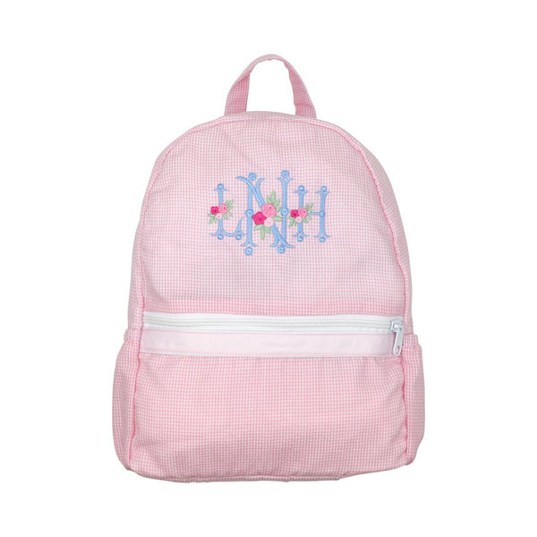 Pink Gingham Seersucker Backpack