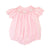 Pink Gingham Smocked Bunny Bubble