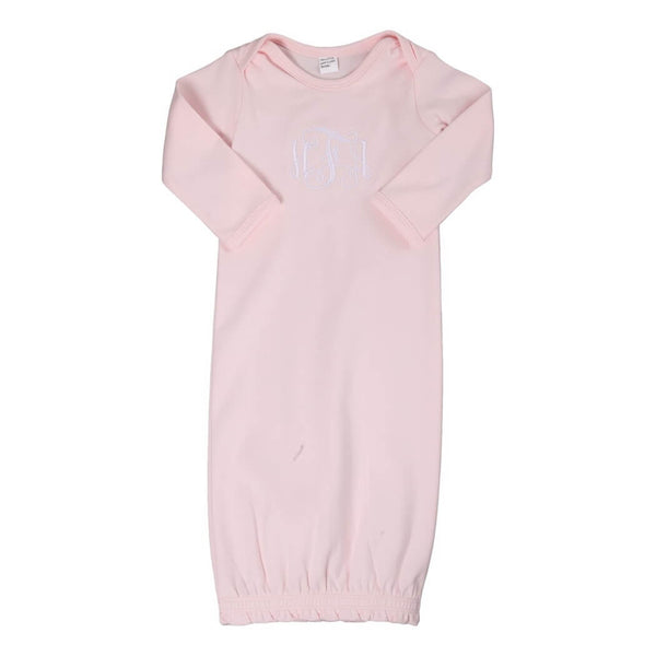 Pink Knit Gown (0-6M)
