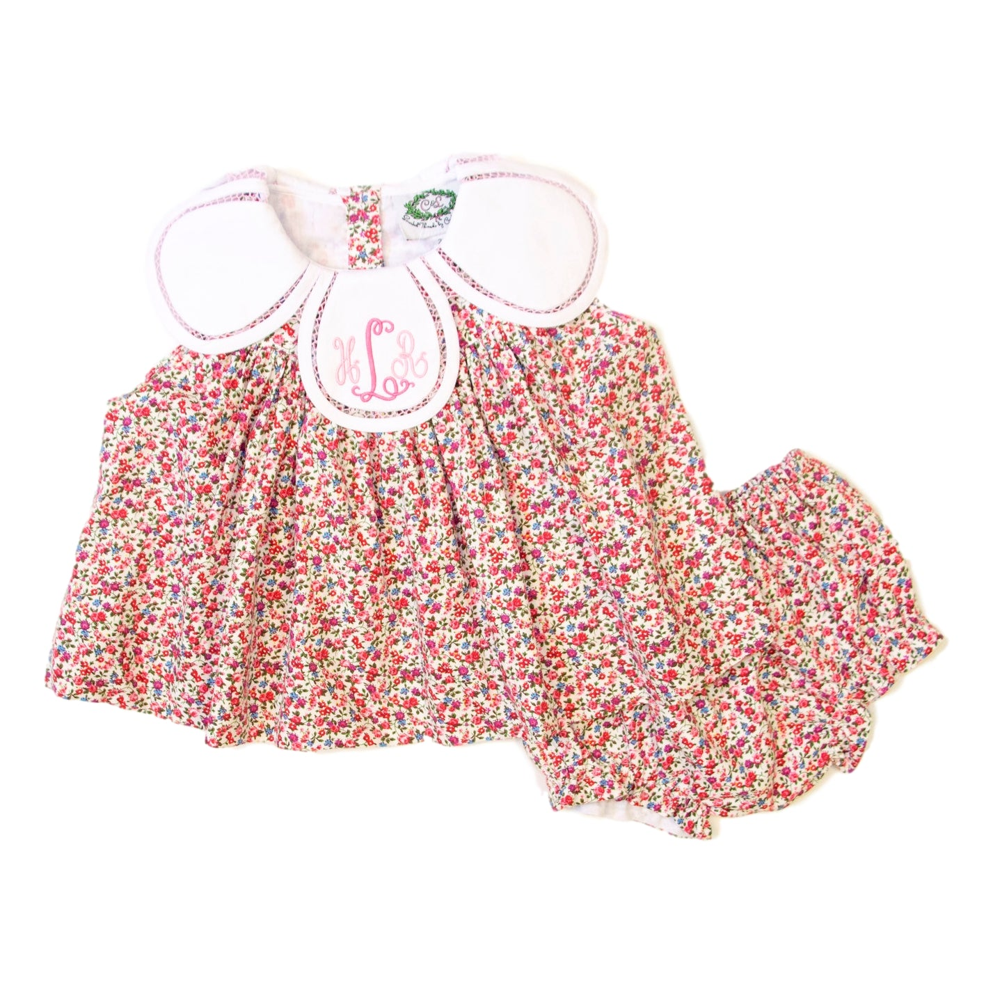Pink Liberty Eliza Diaper Set