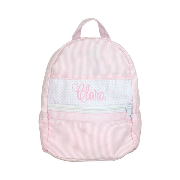 Pink Mini Stripe Backpack