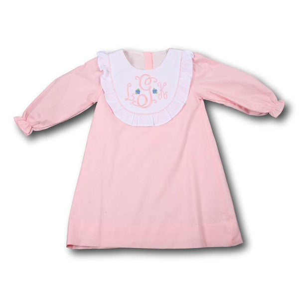 Pink Pique Bib Dress