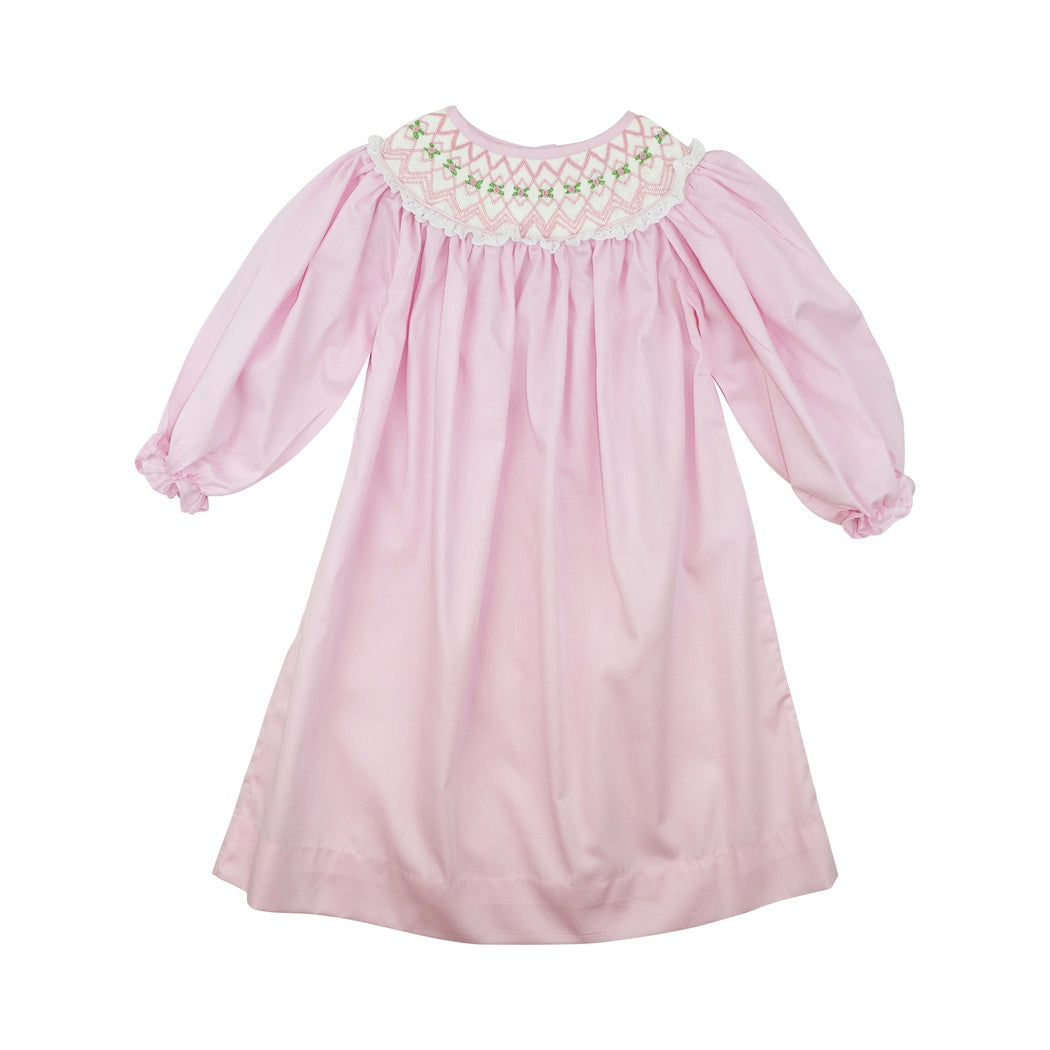 Pink Pique Smocked Dress