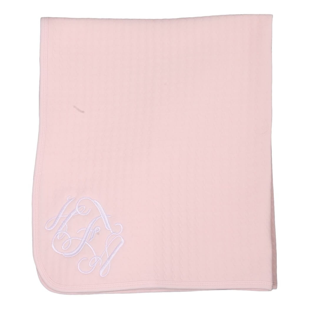Pink Quilted Baby Blanket