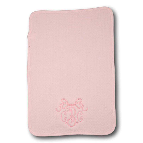 Pink Quilted Burp Cloth by Eliza James Kids - Baby Burp Rag