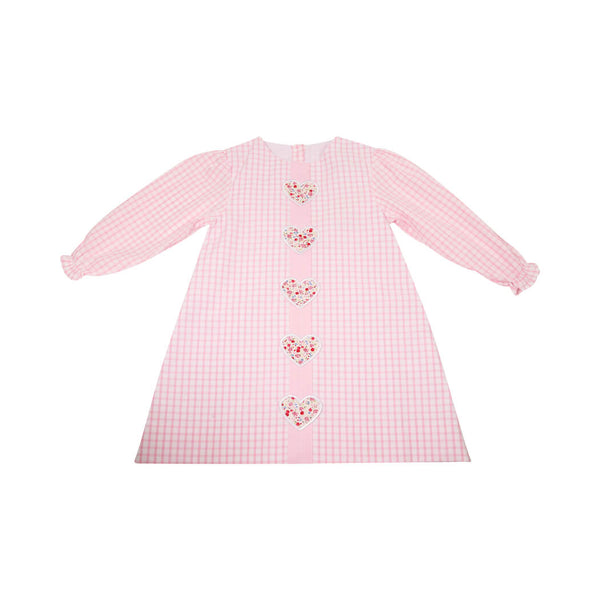 Pink Windowpane Liberty Heart Dress