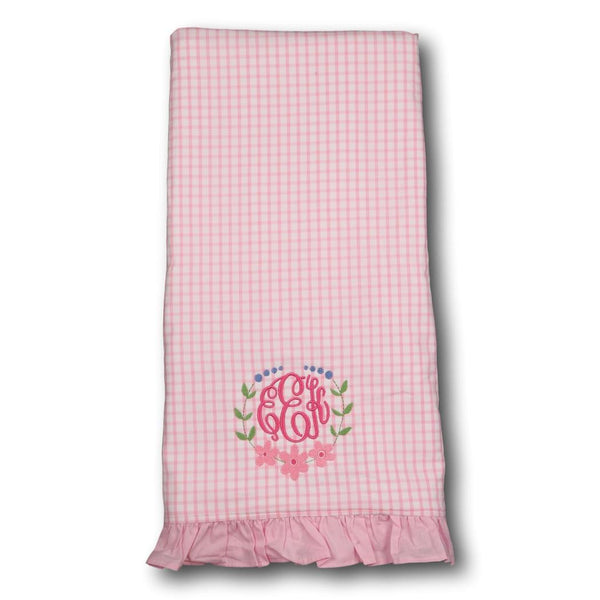 Pink Windowpane Towel