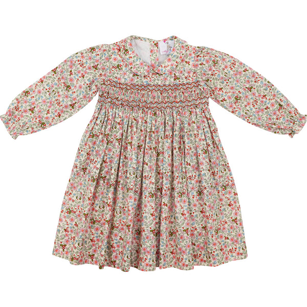 Pink and Blue Liberty Smocked Dress