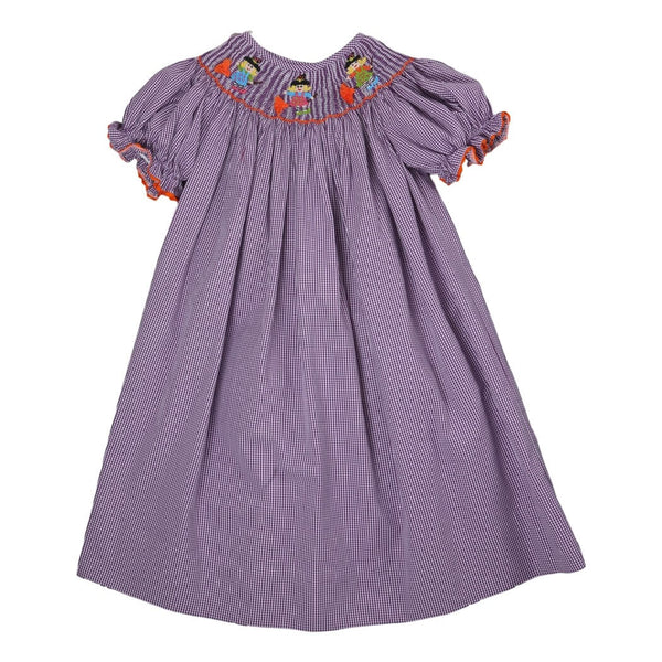 Purple Gingham Witch Bishop Dress