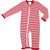 Red Mini Stripe Girls Zipper Pajamas