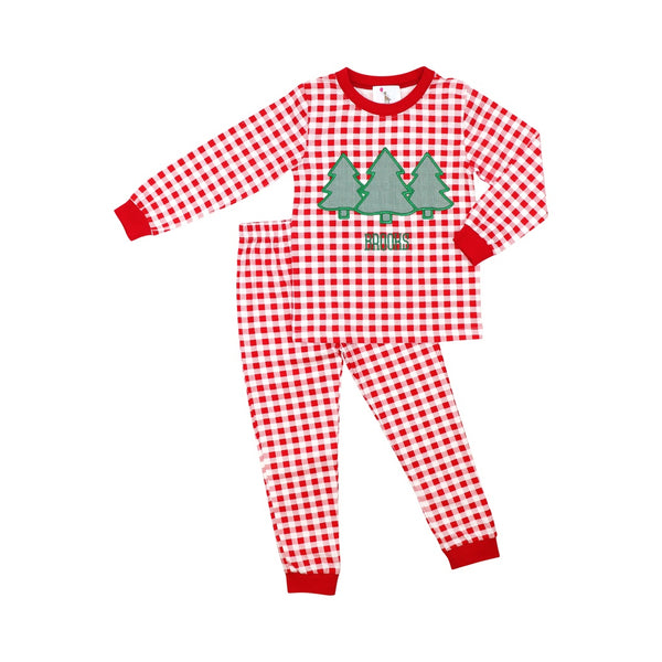 Red Check Christmas Tree Pajamas