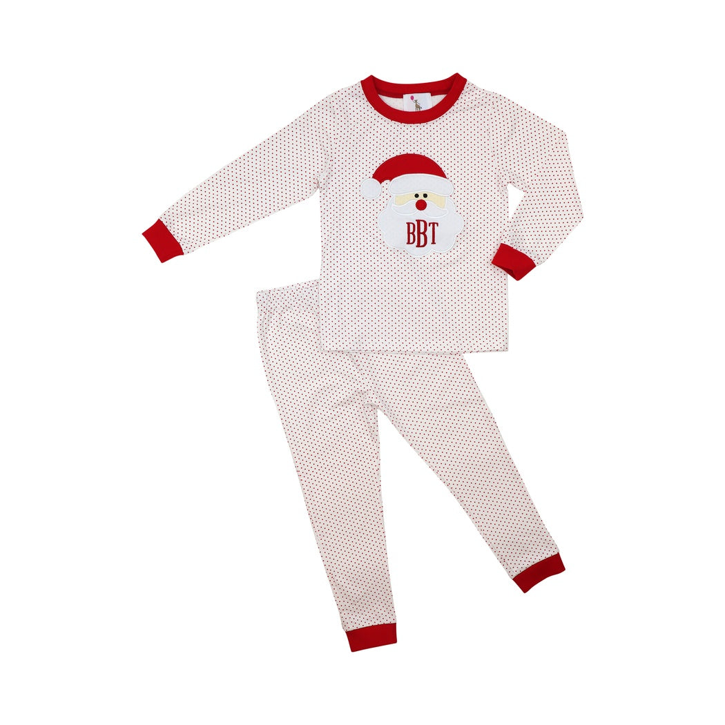 Red Dot Boys Santa Pajamas