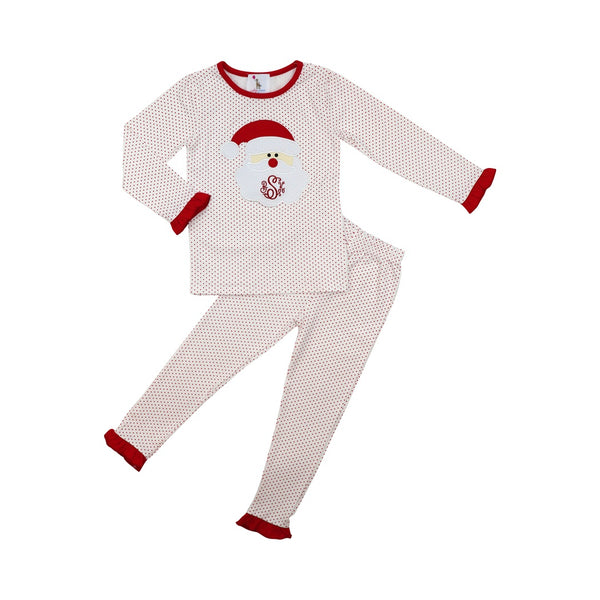 Red Dot Girls Santa Pajamas