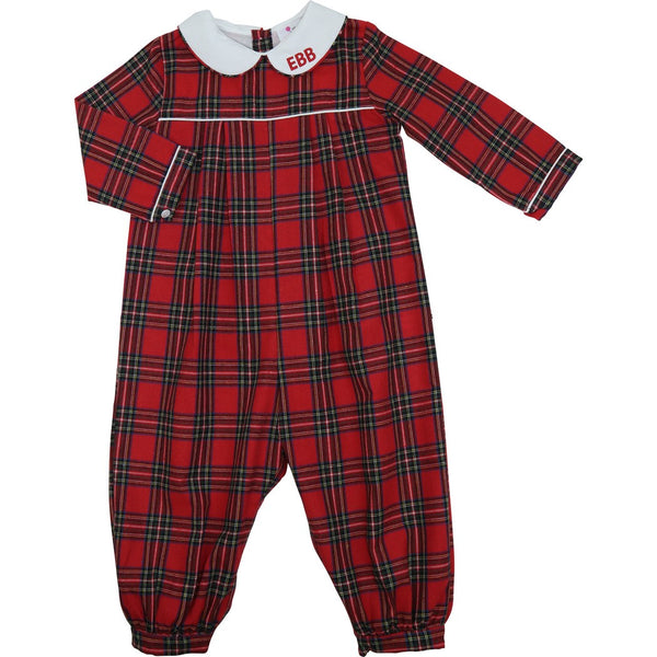 Red Flannel Long Romper