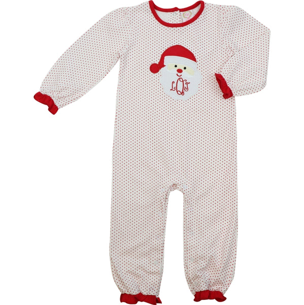 Red Knit Dot Santa Long Bubble