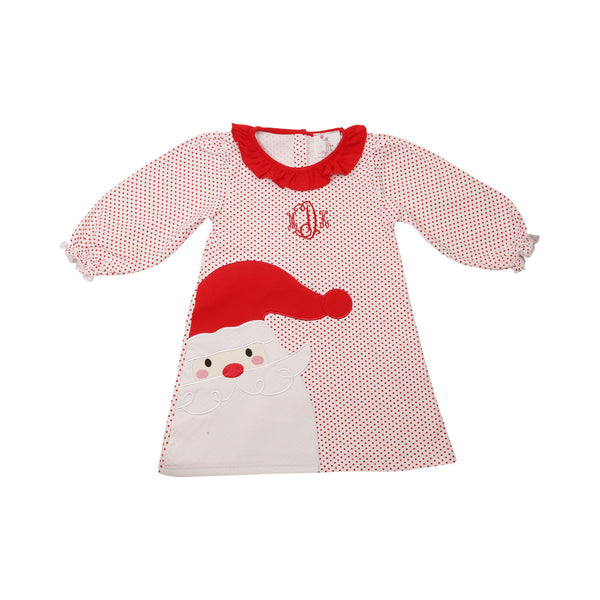 Red Mini Dot Applique Santa Dress