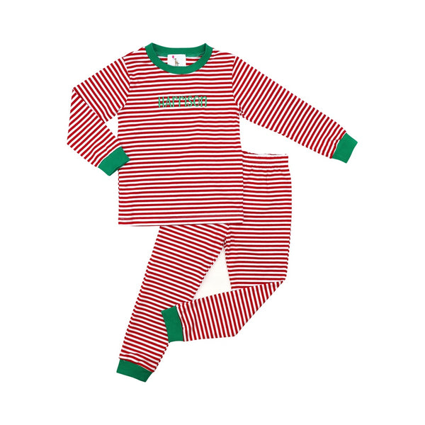 Red Mini Stripe Boys Pajamas