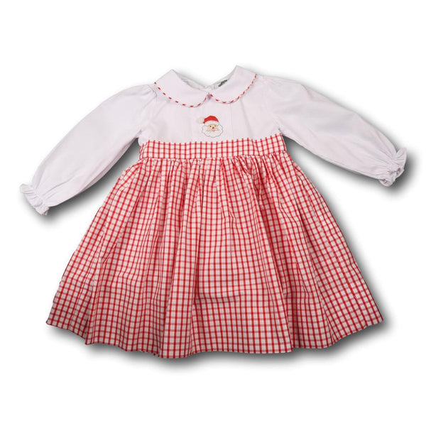 Red Windowpane Santa Dress