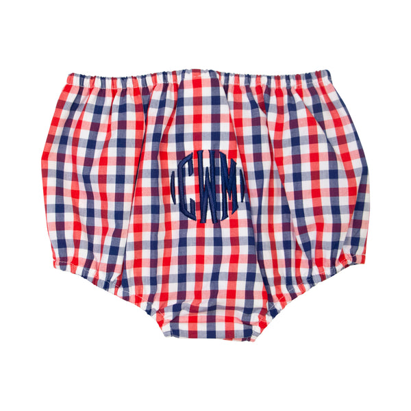 Red and Navy Check Swim Bloomer