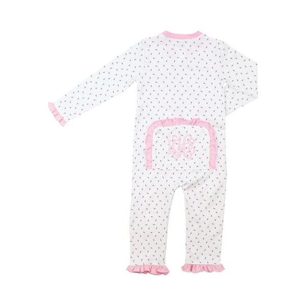 Rosebud Knit Zipper Pajamas