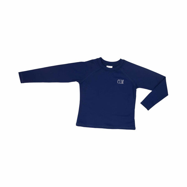 Solid Navy Rash Guard