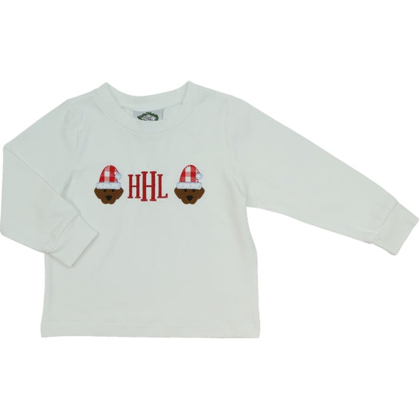 White Knit Holiday Lab Faces Shirt