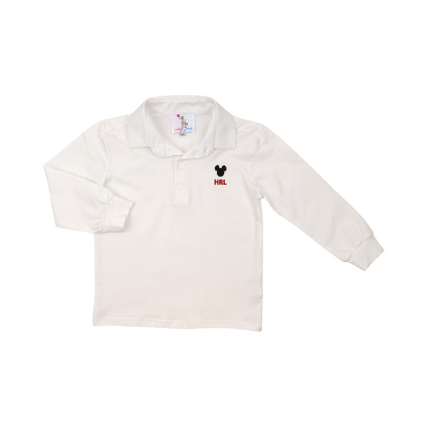 White Mouse Ear Polo Shirt