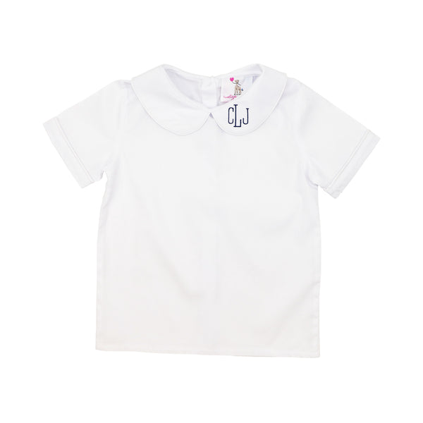 White Peter Pan Boys Shirt