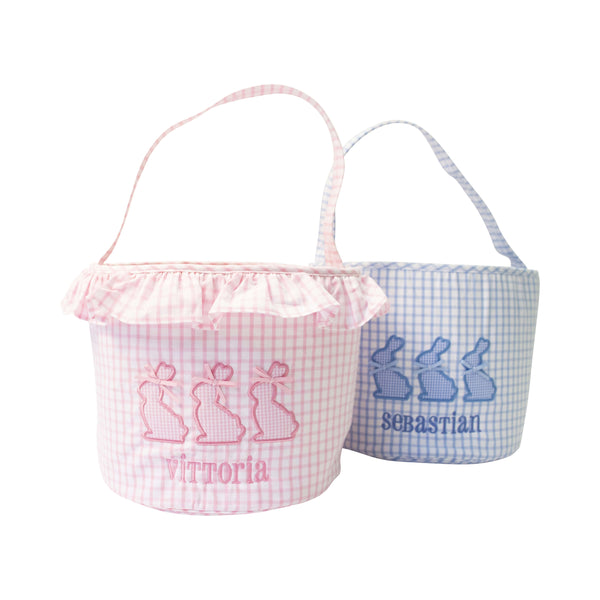 Windowpane Applique Bunny Easter Baskets