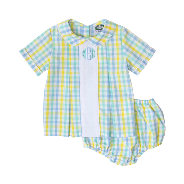 Yellow Check Insert Diaper Set