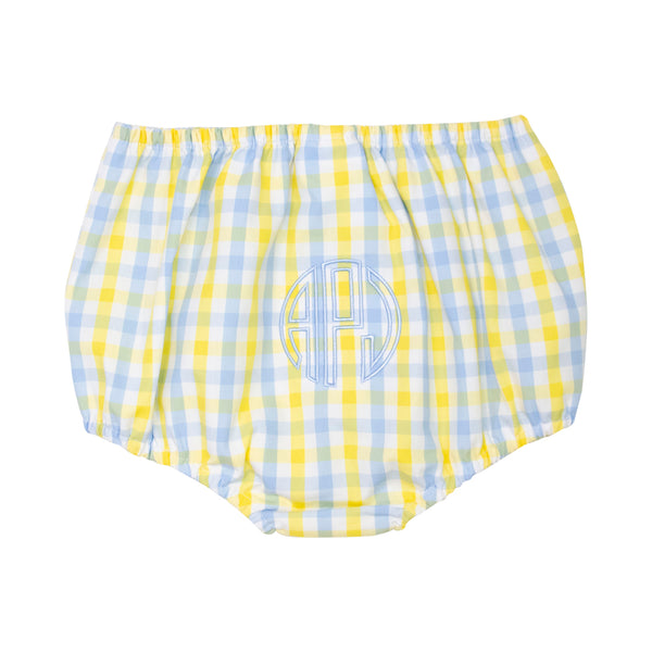 Yellow and Blue Check Swim Bloomer