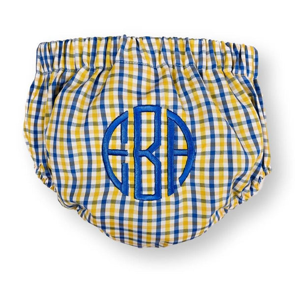 Yellow and Blue Swim Bloomer