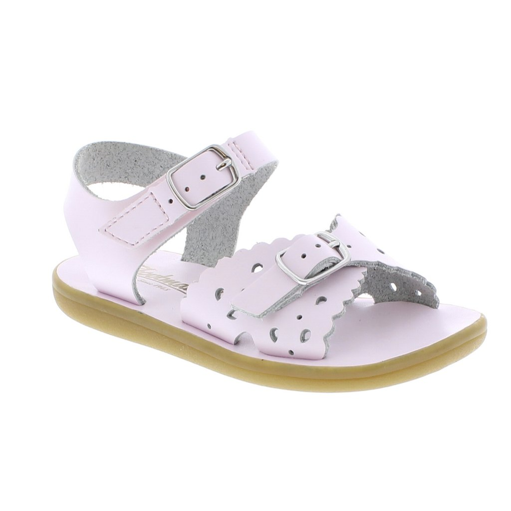Rose Leather Sandal with Velcro Strap (Toddler)