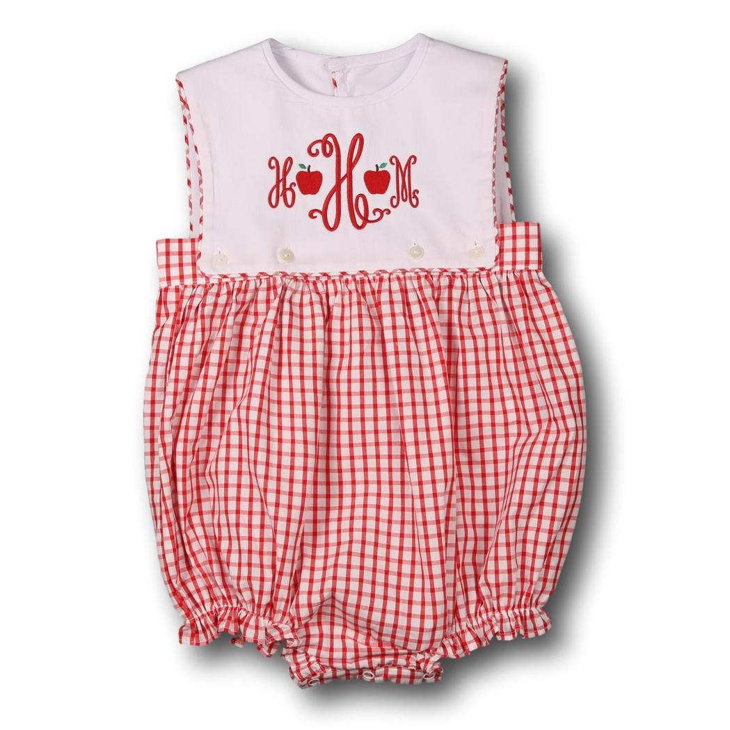 Red Windowpane Girls Bubble
