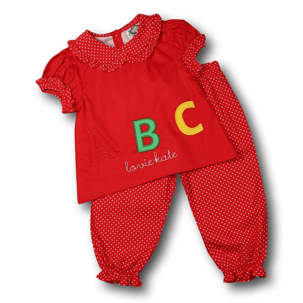 Red ABC Pant Set