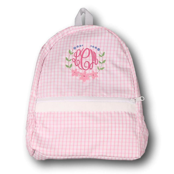 Pink Windowpane Backpack