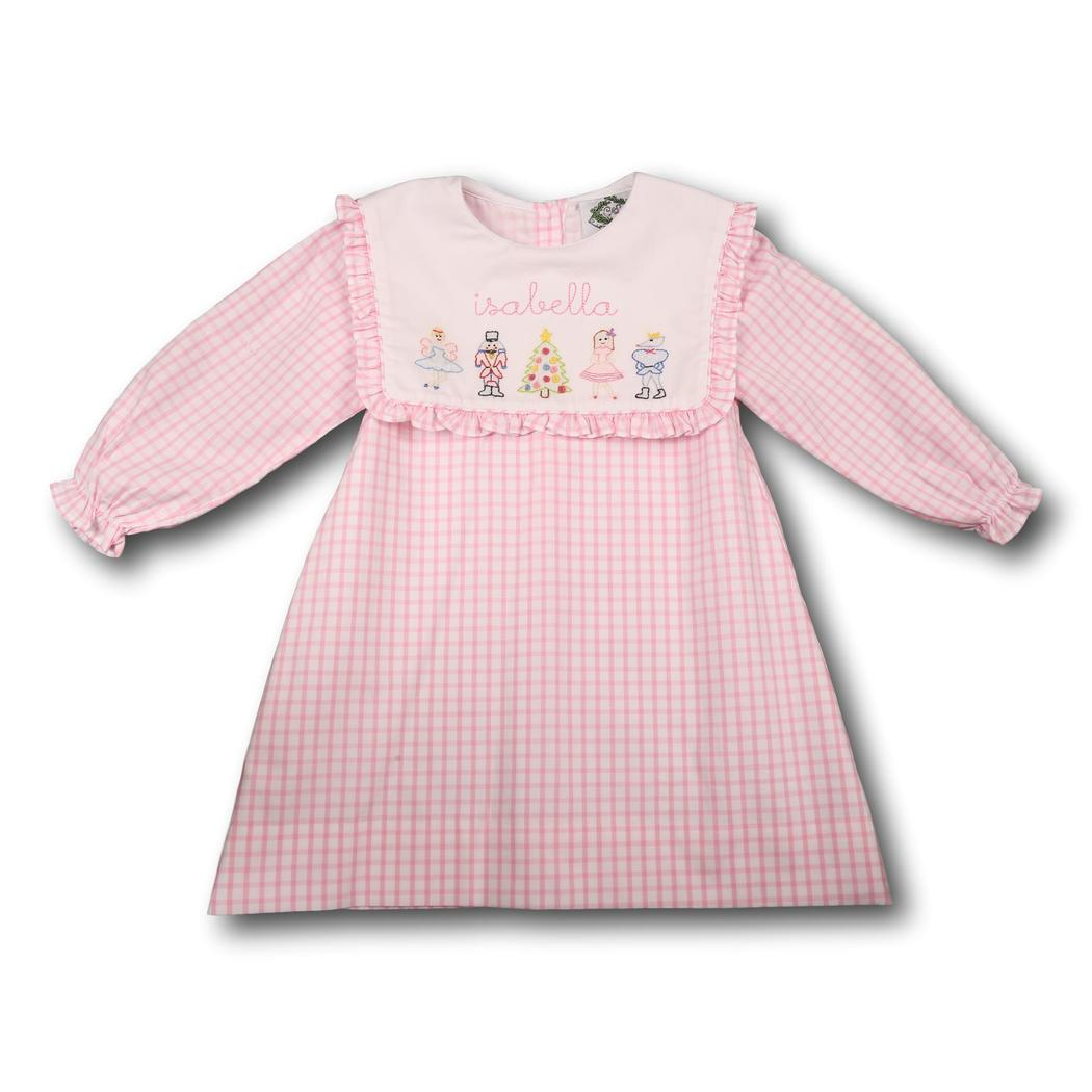 Pink Windowpane Nutcracker Ballet Dress