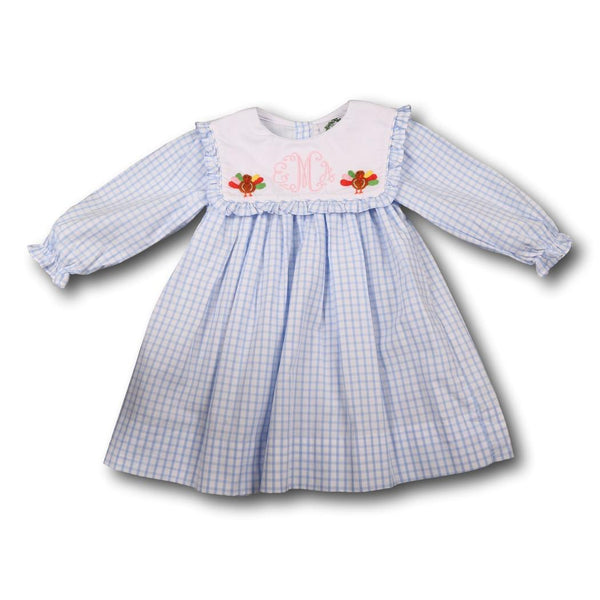 Blue Windowpane Turkey Dress