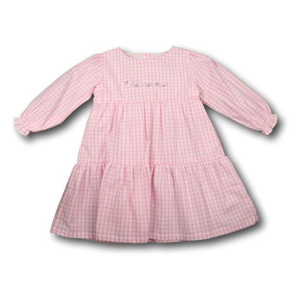 Pink Windowpane Dress