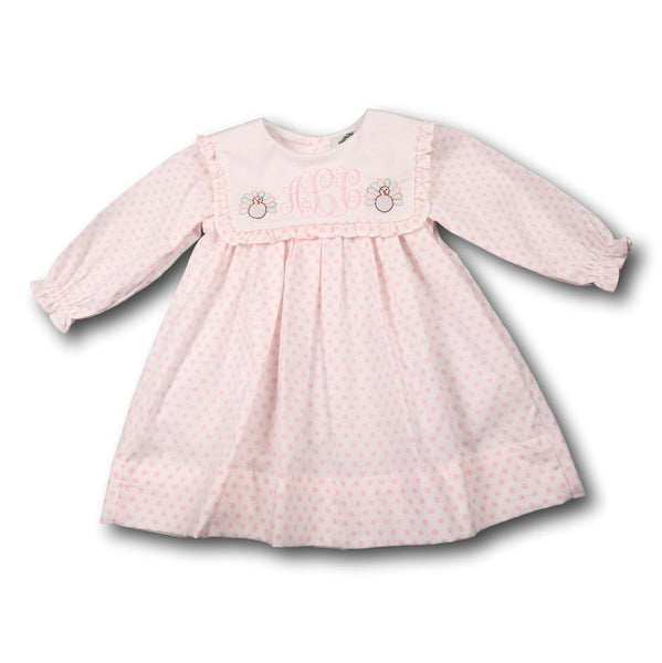 Pink Dot Shadow Embroidered Turkey Dress