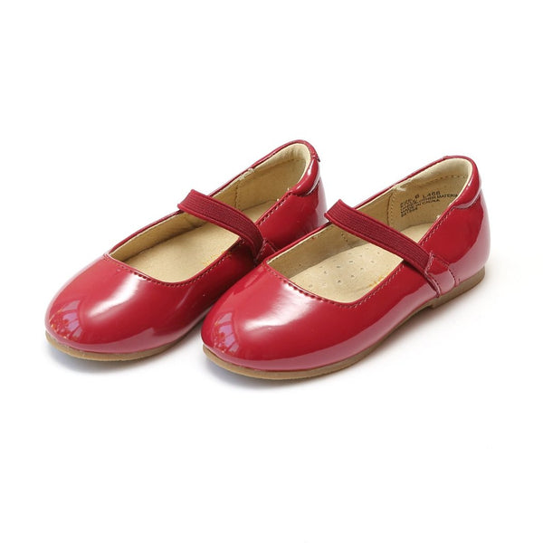Red Elastic Strap Ballet Flat Shoes