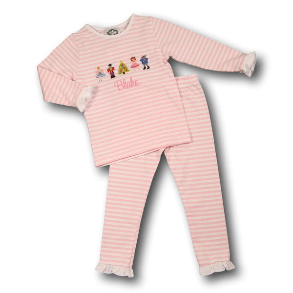 Pink Mini Stripe Nutcracker Ballet Pajamas