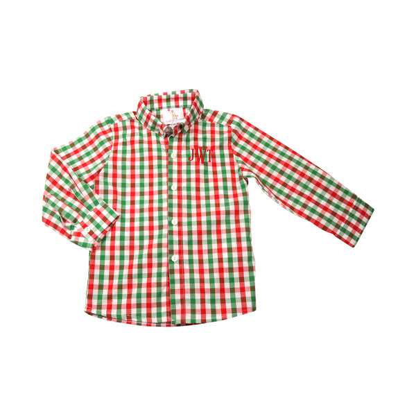 Holiday Check Button Down