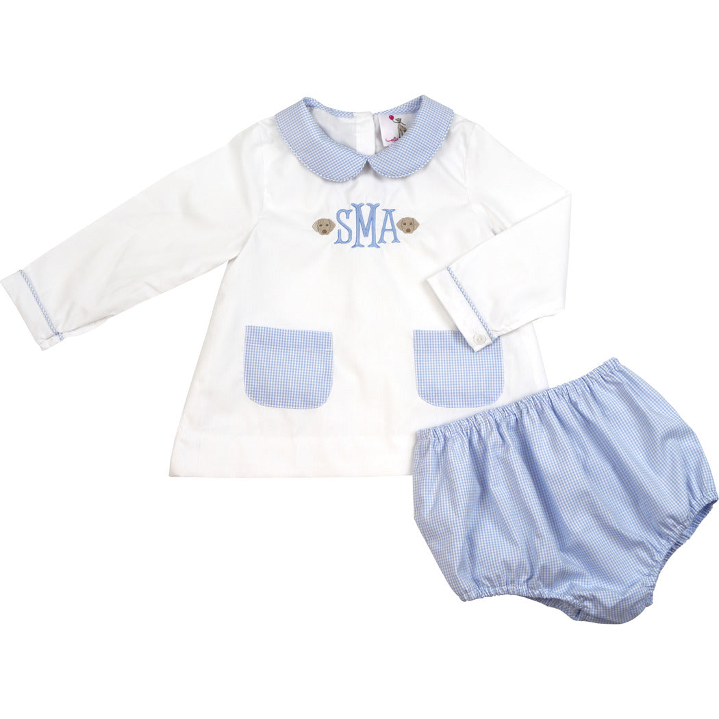 Blue Gingham Pocket Diaper Set