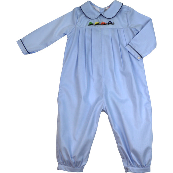 Blue Car Long Romper