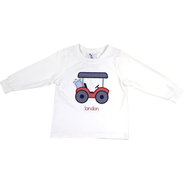 White Knit Golf Cart Shirt